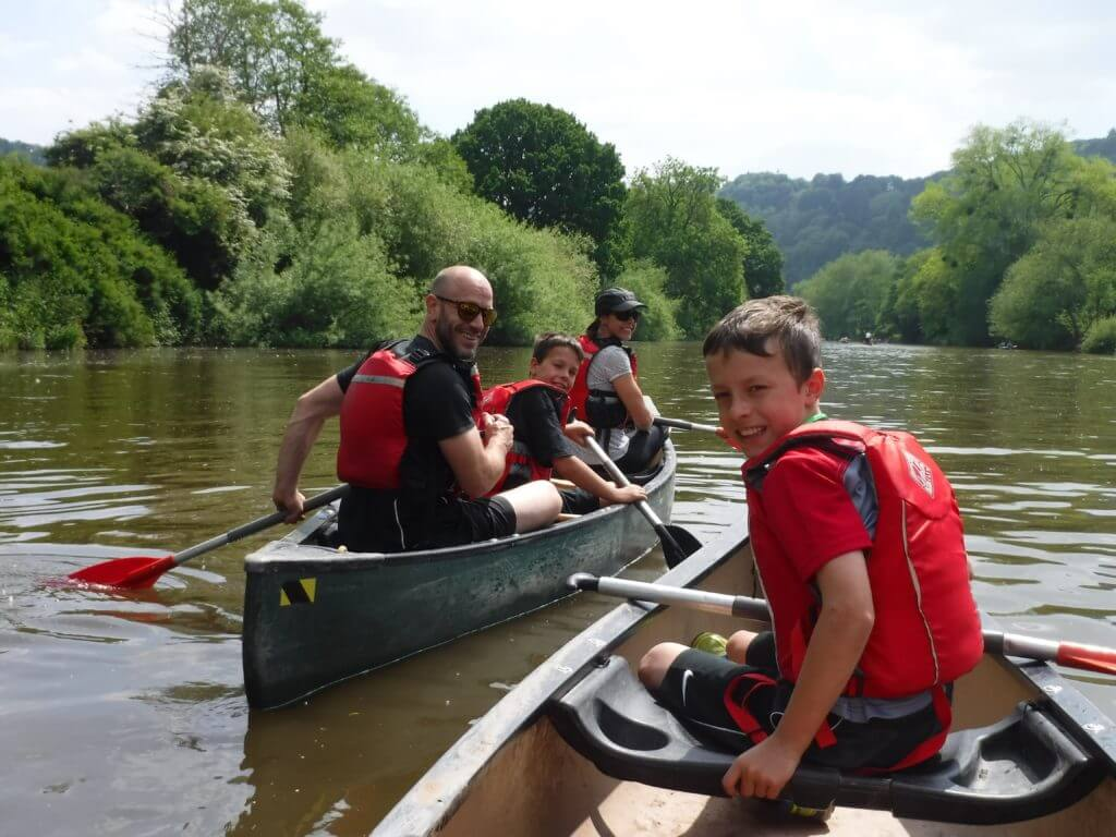 Family holidays at Mad Dogs - canoeing with children