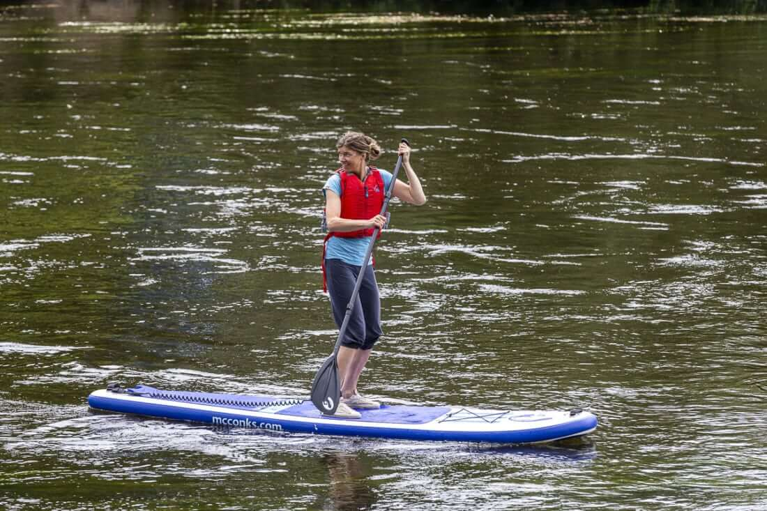 Paddle Boarding on the river Wye