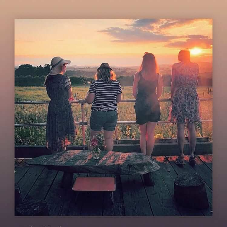 Ladies viewing the sunset